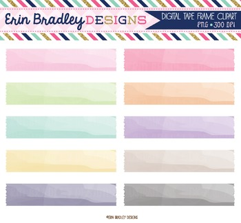 Clipart - Watercolor Digital Washi Tape
