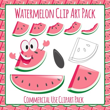 Watermelon Slices and Character Clip Art Pack for Commercial Use