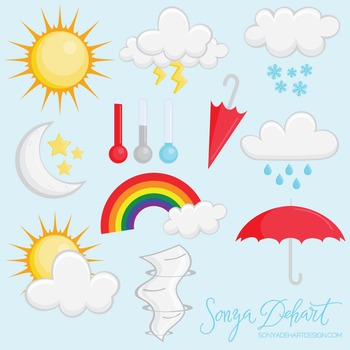 Clip Art: Weather Set