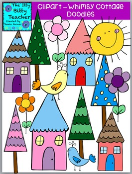 Clipart - Whimsy Cottage Doodles
