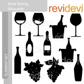 Clipart Wine Tasting Silhouette E030