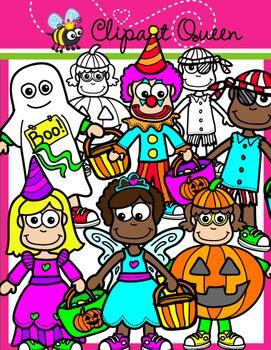 Halloween Clipart: Costume Kids