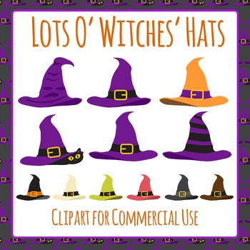 Clipart: Witches' Hats Clip Art Pack for Commercial Use