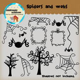 Clipart and Frames: Spiders and Webs! - halloween