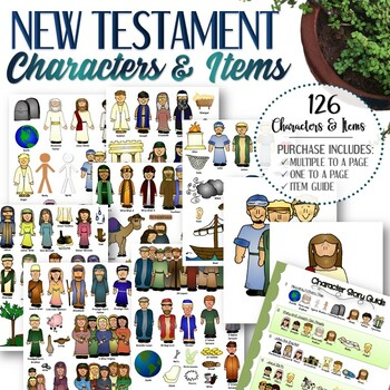 Clipart for Entire New Testament Stories - INSTANT DOWNLOAD