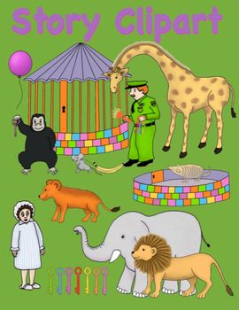 Clipart for Good Night Gorilla & Retelling Activity for Sm