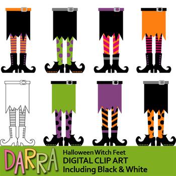 Clipart for Halloween activities / Halloween witch feet clip art