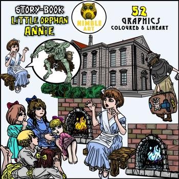 Storybook Clipart - Orphan Annie