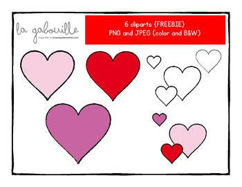 Clipart hearts for Valentine's Day { FREEBIE }