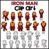 "Clip Art - Super Hero ""IRON MAN"""