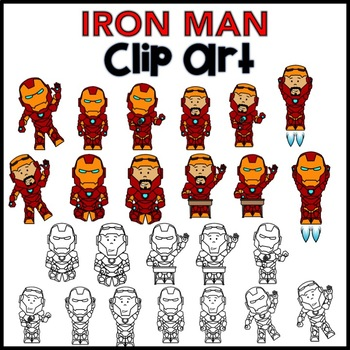 "Clip Art - Super Hero ""IRON MAN"""