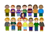 Modified Lessons Clipart of Little Boys