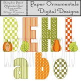 Clipart or Clip Art:  Pumpkin Patch Alphabet