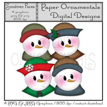 Clip Art or Clipart:  Snowmen Set 1