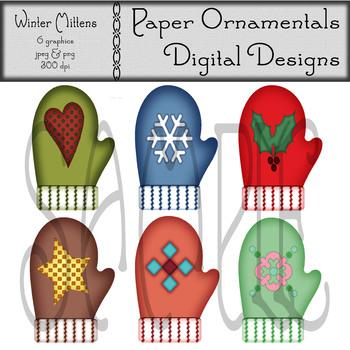 Clip Art or Clipart: Winter Mittens
