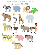 Clipart savanna animals