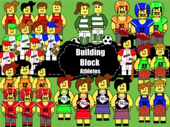 Clipart:Building Block Athletes (Lego Like)