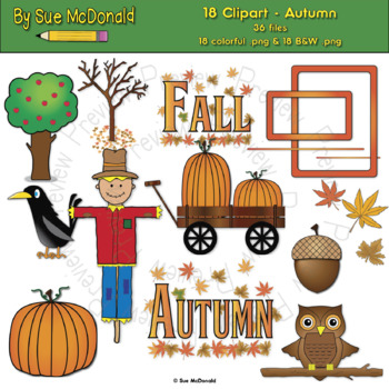 Clipart - Autumn - 18 High Quality Vector Graphics