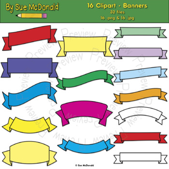 Clipart - Banners - 16 High Quality Vector Graphics