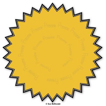Clipart - Bursts - 16 High Quality Vector Graphics