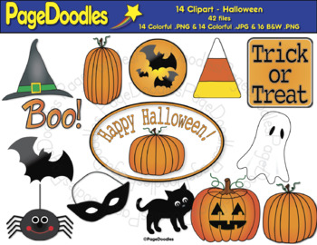 Clipart, Halloween, for TPT Sellers - High Quality Vector Graphics