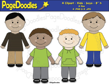 Clipart, Kids, Boys, for TPT Sellers - High Quality Vector Graphics