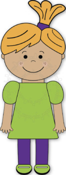 Clipart, Kids, Girls, for TPT Sellers - High Quality Vector Graphics