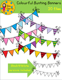 Cliparts - Colourful bunting banners by Miss Caprice