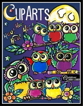 Cliparts Owls , Hiboux
