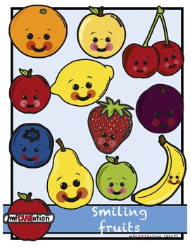 Cliparts - Smiling fruits