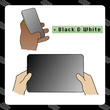 CLIPART : Teenagers: smartphones, tablets and computers