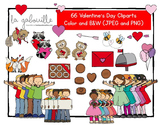Cliparts de la St-Valentin (66 illustrations)