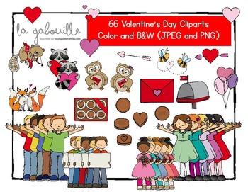 Cliparts de la St-Valentin (66 illustrations)