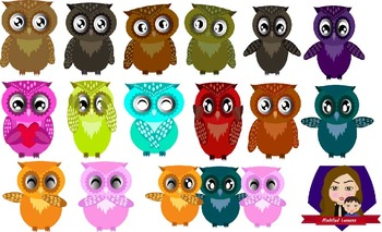 Modified Lessons Clipart of Owls