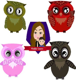 Modified Lessons Clipart of Owls (FREE)