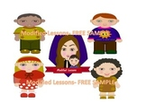 Modified Lessons Clipart of little boys and girls (FREE)