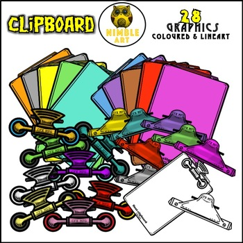 Clipboard Clipart (Stationeries)