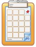 Clipboard Attendance Sheet