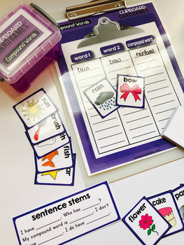 Clipboard Card Games - Compound Words