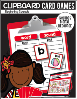 Clipboard Card Games / Digital Classroom Resource- Past and Present Tense