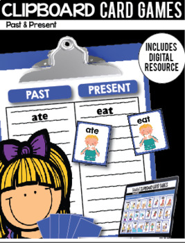 Clipboard Card Games / Digital Google Classroom Resource - Past and Present