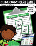 Clipboard Card Games / Digital Google Classroom Resource - Singular and Plural