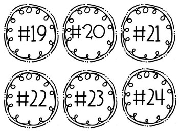 Clipboard/Center/iPad/Chromebook Numbered Doodle Circles!