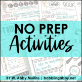 NO PREP Distance Learning Activities Packet