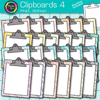 Rainbow Clipboards Clip Art {Back to School Supplies for Classroom Resources} 4