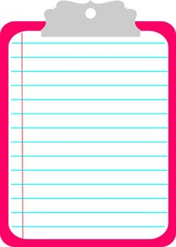 Clipboard Clipart By The Teal Paperclip Teachers Pay Teachers Please use and share these clipart pictures with your friends. clipboard clipart