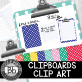 Clipart Clipboards with Removable Clips!