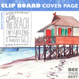 Clipboard Cover Page BEACH THEME