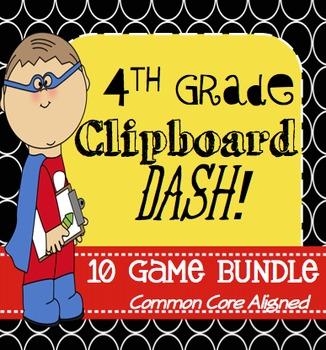 Clipboard Dash: 4th Grade 10 Game Bundle