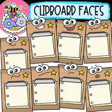 Clipboard Faces: Back-to-School Clipart {DobiBee Designs}